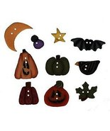 BUTTON PACK JABC 8641 Scatter Pumpkins cross stitch chart Just Another Button Co - $15.50