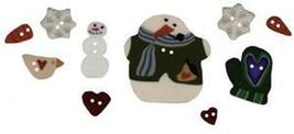 BUTTON PACK JABC 8778 Scatter Snowflakes cross stitch chart Just Another Button  - $16.50