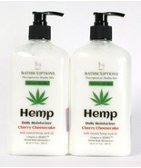 2 Ct Bathscriptions 17 Oz Hemp Seed Oil Cherry Cheesecake Daily Moisture... - $30.99