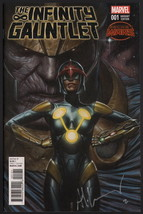Infinity Gauntlet #1 SIGNED by Adi Granov Cover Art Thanos Avengers War ... - $49.49