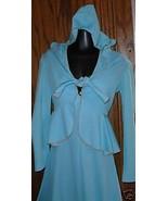 Vintage MOD 70s PATRICIA FAIR Maxi Dress Gown w/hood jacket - $124.99