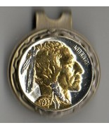 "Indian head nickel ""Gold & silver bust"" coin golf marker - $66.00"