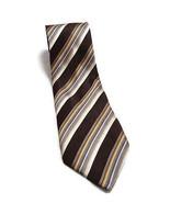 """GEOFFREY BEENE BROWN STRIPED Hand Made Silk Tie Men's Necktie 3.75"""" WIDE... - $12.46"""