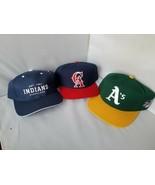 CA Anaheim Angels Cleveland Indians Oakland A's Snapback Hat Set of 3 Caps - $101.69