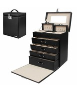 Jewelry Box Girls Fully Locking Organizer for Necklace Earrings Ring Gre... - $147.99