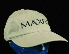MaxFli Saab Beige Baseball Cap Hat Loop Hook Adjustment Box Ship - $12.99