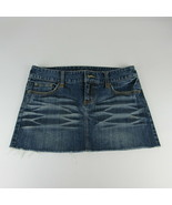 AEO American Eagle Outfitter 6 Skirt Denim Size Dark Wash Cotton Distres... - $16.69
