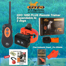 DT Systems H2O 1850 PLUS Remote Dog Trainer Beeper- Free Cicker ,Comb, W... - $280.49