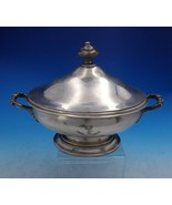 Cartier English Georgian Sterling Silver Vegetable Bowl Covered w/ Base ... - $2,795.00