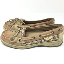 Sperry Top Sider Angelfish Linen/Leopard Womens Sz 6.5 M Boat Shoes 9102341 - $22.98