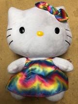 """Hello Kitty Medium TY Beanie Buddy 11"""" Plush Toy - Rainbow Tie Dye Dress - $14.80"""