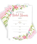 40 Floral Watercolor Bridal Shower Invitations | 40 Invitations with Env... - $18.01
