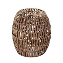 Indoor Garden Stool, Faux Rattan Garden Stool For Accent - Iron And Ppc - £113.04 GBP