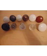 Antique 11 Porcelain-Glass-Metal Door Knobs-Coat & Umbrella Hangers-Whit... - $49.99