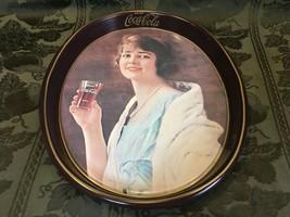 Vintage Coca Cola Collectible Metal Restaurant Serving Drink Tray 1983 R... - $13.71