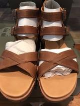 Timberland Womans' Natoma Y Strap Beige/Brown Sandal NIB - $105.99