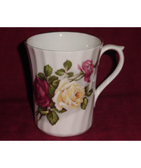 Luxford Fine Bone China Mug Red Yellow Roses Coffee Tea - $12.00