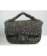 Chanel Grey Black Tweed Leather Shoulder Flap Bag Cross Body Handbag Pur... - $2,397.83