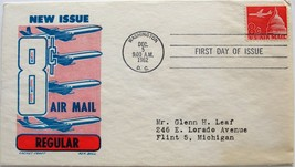 December 5, 1962 First Day of Issue, Ken Boll Cover, 8c US Air Mail #34 - $3.68