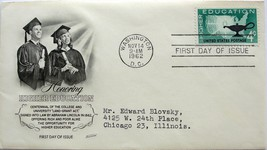 November 14, 1962 First Day of Issue, Fleetwood Cover, Higher Education #28 - $1.73