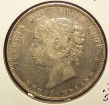 KM #6 1900 Queen Victoria Silver Newfoundland Half Dollar #0828 - $17.99