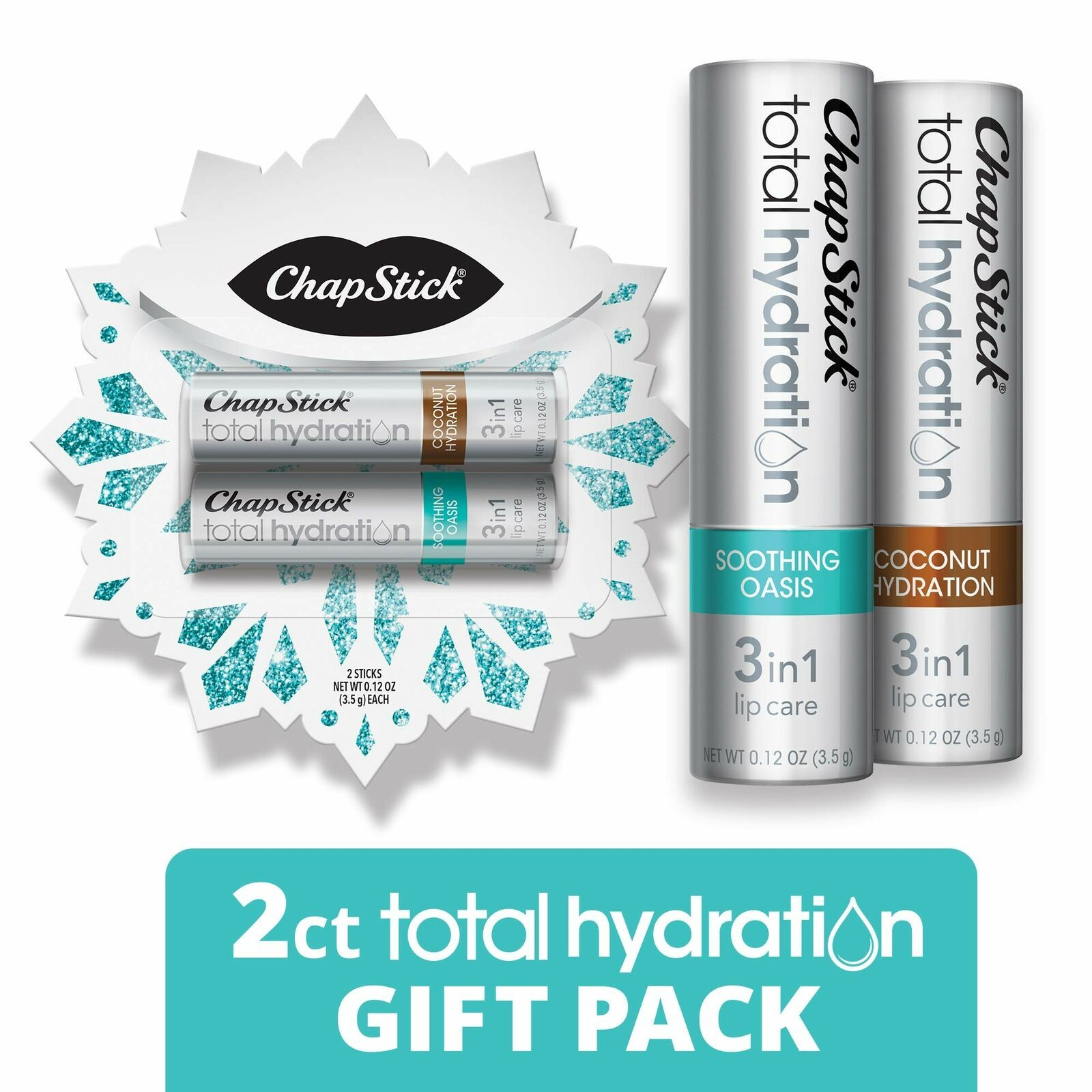 Primary image for ChapStick Total Hydration Lip Balm Holiday Snowflake Gift Pack (Coconut Sooth...