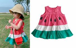 NWT Watermelon Girls Sleeveless Pink Ruffle Dress 2T 3T 4T 5T - $10.99