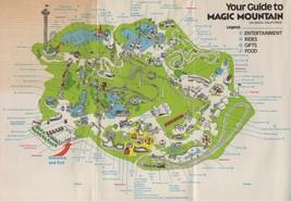 1974 Magic Mountain Map Poster 24 X 36 Inches Looks Beautiful Nostalgia - $19.94