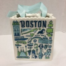 Starbucks Ornament Boston Been There Tote Bag 2019 Ceramic Gift Card Holder - $34.64