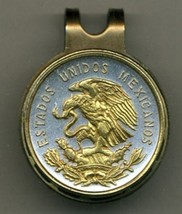 """Mexican 10 centavo """"Eagle""""  2-Toned Gold on Silver coin golf marker - $70.00"""
