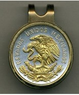 "Mexican 10 centavo ""Eagle""  2-Toned Gold on Silver coin golf marker - $70.00"