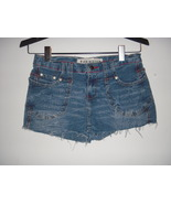 Distressed low Waisted Denim Cut Off Shorty Jeans Shorts 28 Waist Medum ... - $9.99