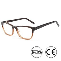 Classic Computer Gaming Reading Brown Tinted Glasses with Anti Blue Ligh... - $21.65