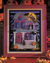 Cross Stitch Halloween Haunted House Trick Or Treat Moon Harvest Witch Patterns - $9.99