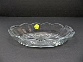 Vintage Mid Century Elegant Heisey glass butter dish tray - $20.00