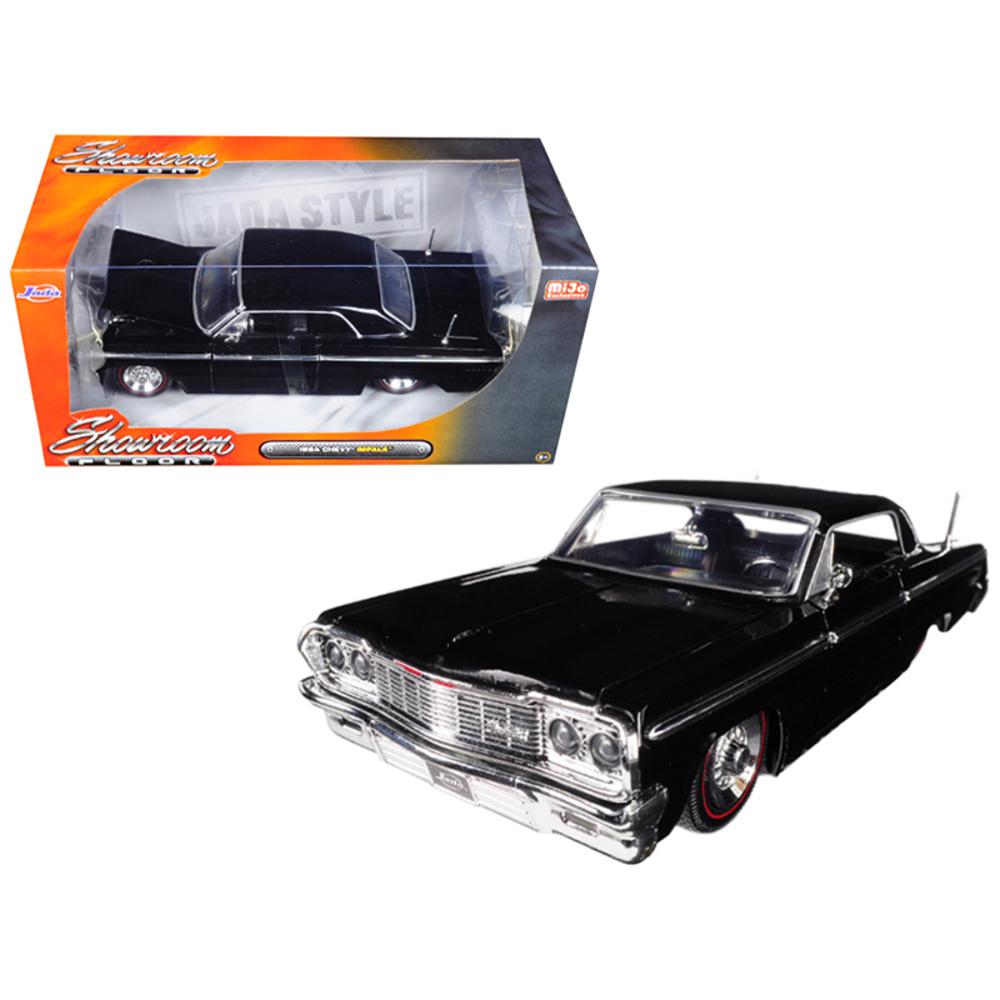 1964 Chevrolet Impala Black Showroom Floor 1/24 Diecast Model Car by Jada 98907