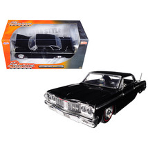 1964 Chevrolet Impala Black Showroom Floor 1/24 Diecast Model Car by Jad... - $31.54