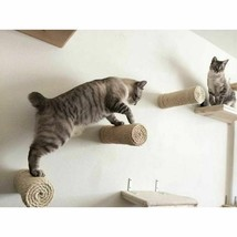 Wall-Mounted Sisal Cat Scratching Post Cat Tree House Scratcher Kitten T... - £57.64 GBP+