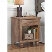 Rustic End Table Farmhouse Small Accent Side Tables Women Men Bedroom Ni... - $94.04