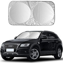 Kribin Windshield Sunshade - 2020 Upgraded Car Windshield Sun Shade for UV Prote