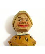 Anri Hand Carved Painted Wood Man Beer Bottle Opener Italy Mid Century Vintage - $14.80