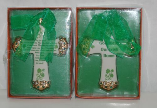 Kurt S Adler JO683 God Bless Our Irish Home May Road Rise Meet You Ornament Set
