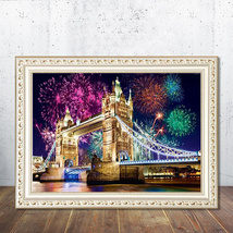 DIY Diamond Painting London Bridge 5D Embroidery Diamond Painting Mosaic... - $16.90
