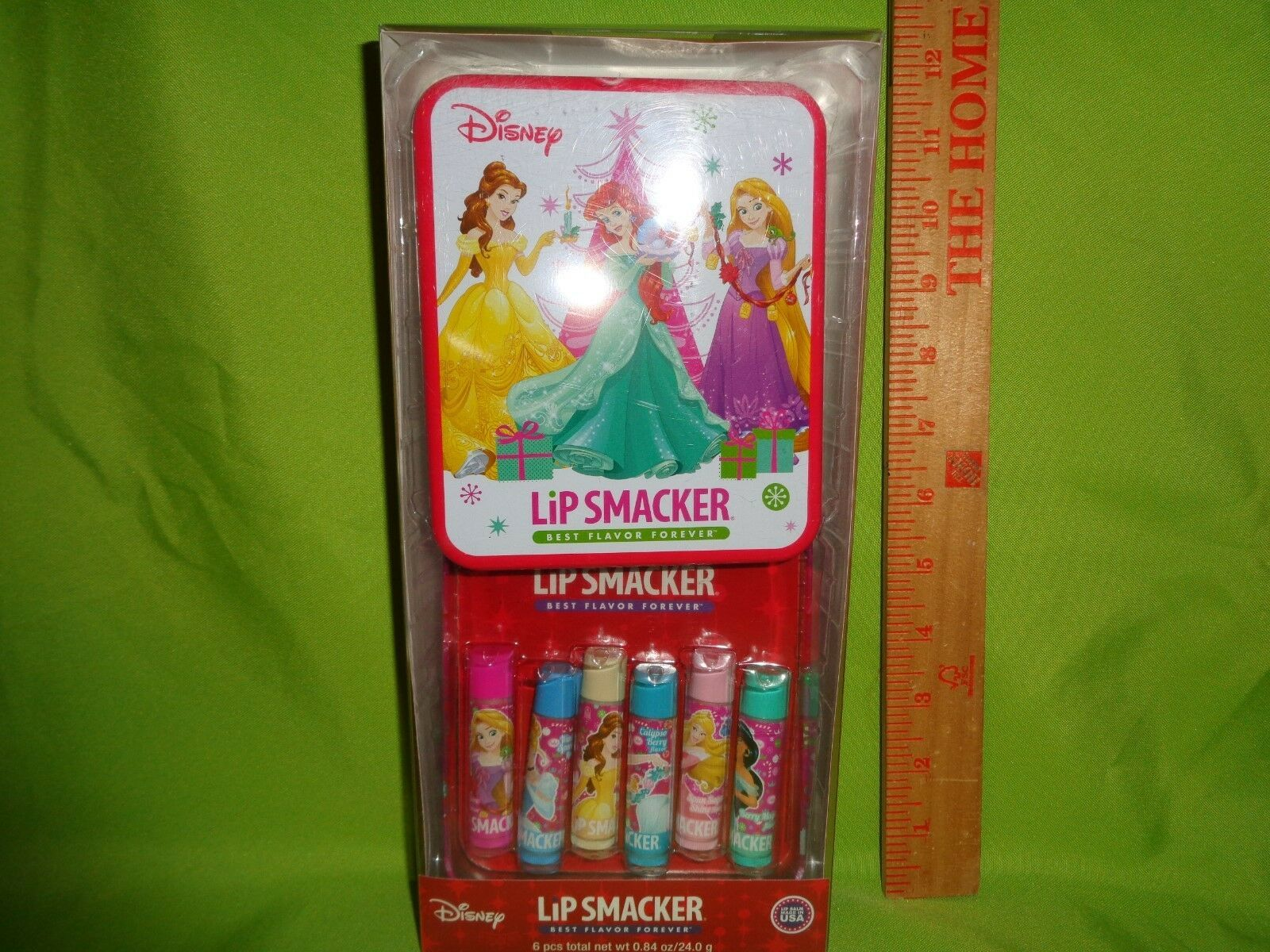 Primary image for Lip Smackers Disney Princess Holiday Set 6 pc Lip Balm With Limited Edition Tin