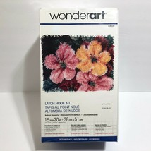 "WonderArt Latch Hook Kit Rug 15""x20"" Brilliant Blossoms Flowers NEW Made... - $19.95"