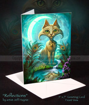 Reflections Cat Card - $5.00