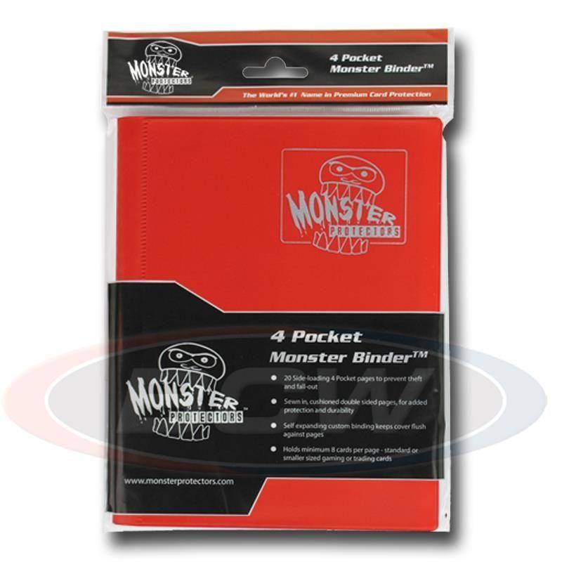 4-POCKET MONSTER PROTECTOR BINDER - MATTE RED