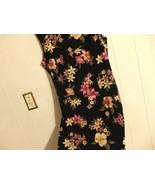 Wome M L 12 14 Sleev Green Floral Pink Belo Knee Career Eve Dress Chur C... - $21.04