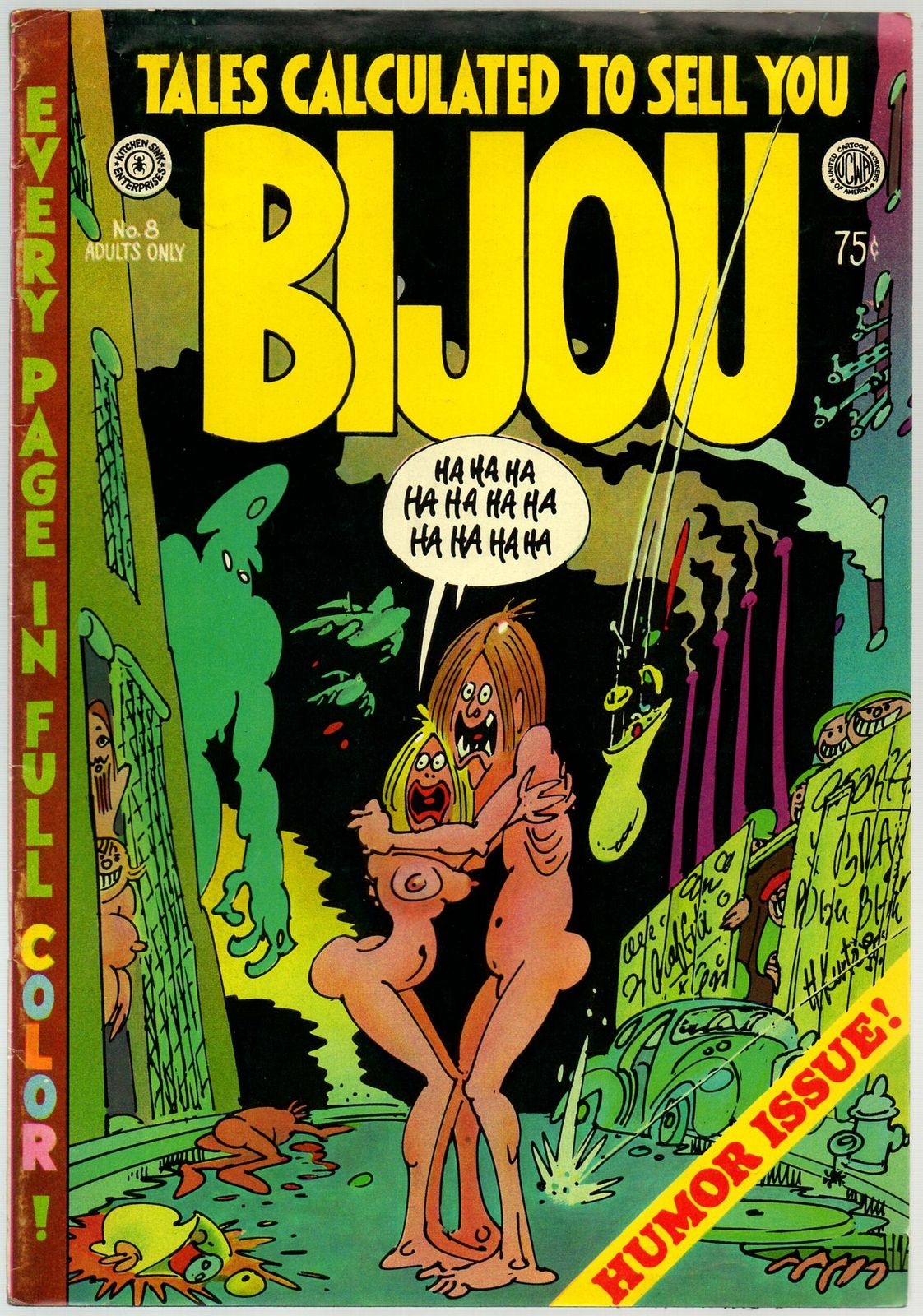 Bijou #8 Kitchen sink 1973, 2nd print, underground comix, In 4 Color