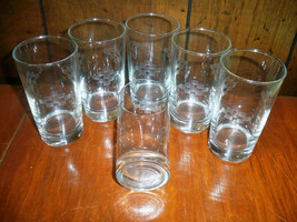 Set of Six Geometric Etched Pattern Glasses - $14.96